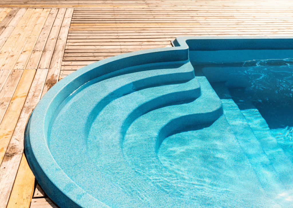 This is a fiberglass pool installed in virginia beach